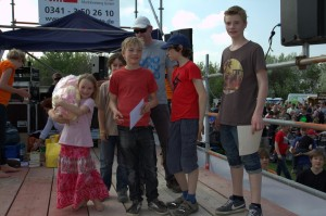 Massenstart Familienkiste 3.Pl.: The Beknacked Racers